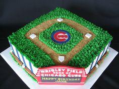 Chicago Cubs Birthday Cake