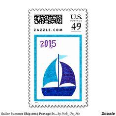 Sailor Summer Ship 2015 Postage Stamps