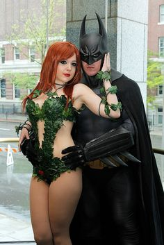 Poison Ivy and Batman by FirstPerson Shooter, via Flickr