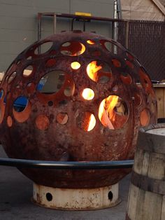 Fire Pit at # Crux Brewery in a Bend, Oregon!