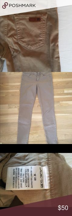 Joe's khaki skinny jeans Joe's skinny jeans. Perfect to wear all year round. Gently worn. Joe's Jeans Jeans Skinny