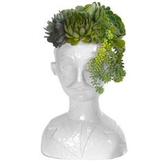 Porcelain Head Planter by Furbish