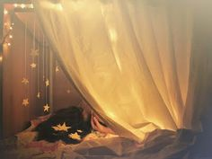 fairy light star fort/den