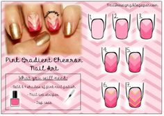 Pink Gradient Chevron Nail Art Tutorial .x.  http://www.naildeesignz.blogspot.co.uk/2014/02/pink-gradient-chevron-nail-art.html