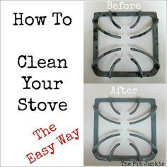 How to Clean Your Stove the Easy Way. One simple and easy trick that will have your stove looking like new!