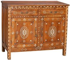 Bone Inlay Side Cabinet  $1650