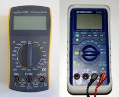 Multimeter Tutorial: explains the basic functions of a multimeter and shows how to measure voltage, resistance, and current with digital multimeters. Electronic Circuit Projects, Electronics Projects, Science Demonstrations, Home Electrical Wiring, Battery Tools, Summer Science, Science Fair Projects, Useful Life Hacks, Being Used