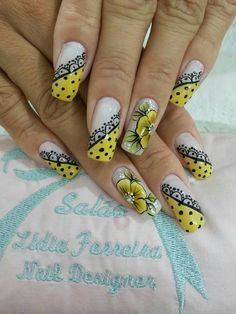 Simple Nail Art Designs, Colorful Nail Designs, Beautiful Nail Designs, Beautiful Nail Art, Elegant Nail Designs, Fabulous Nails, Perfect Nails, Gorgeous Nails, Daisy Nails
