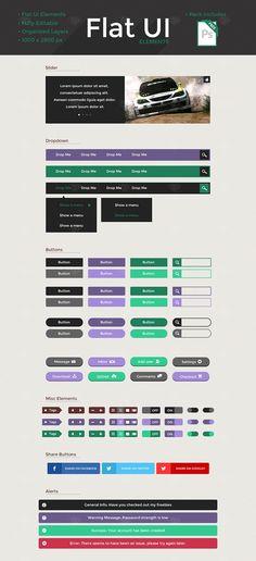 Free Flat UI Kit 28