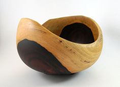Wood Bowl No120903  Cocobolo Natural Edge by conreysa on Etsy, $85.00