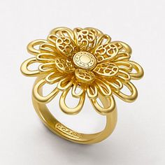 Coach OP Art Flower Ring