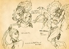 Amazing Sketches of Twinrova Form 1, Twinrova Form 2, and Gerudo Pirate/Thief