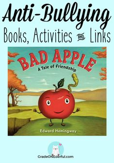 The Bad Apple is the perfect book to begin a conversation with young children about bullying. There are links to dozens of fabulous articles and some ideas for classroom activities. health activities health care health ideas health tips healthy meals Anti Bullying Lessons, Anti Bullying Activities, Social Emotional Activities, Apple Activities, Classroom Activities, Book Activities, Health Activities, Classroom Ideas, Books About Bullying