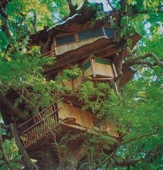 Have you ever considered living in a treehouse? These custom treehouses may just inspire you to get your eco-friendly home building plans off the ground.