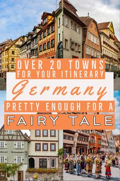 If you will be traveling in Germany, you want to see some of the iconic towns it is known for.  We asked travel bloggers and locals to share their choices of the prettiest towns in Germany.  From medieval walled cities in Germany, to fairy tale villages in Germany, we definitely have the prettiest cities in Germany, with a map.  #germany #germanytravel #europe #fairytale