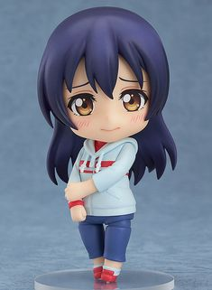 **The pure and innocent beauty who always give her best!**  From the popular anime series *Love Live!* comes a Nendoroid of Umi Sonoda wearing her training outfit! She comes with both an embarrassed expression to show that she can be rather shy, as well as a serious expression to show her diligent side! A diet plan as well as a practice menu are also included for her to ensure the other μ's memb...