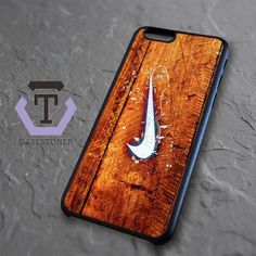 Nike Wood Texture iPhone 6|iPhone 6S Black Case