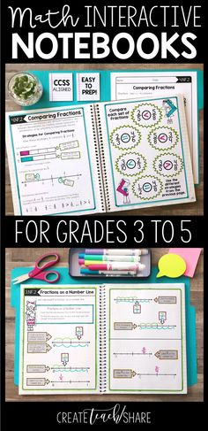 Teachers: Looking for a hands-on approach to teaching math common core standards. My students have had great success with interactive notebooks. They love using their journals to refer back to for different math concepts and skills, including place value, addition, subtraction, multiplication, fractions, decimals, measurement, and geometry. Perfect for upper elementary grades. These Interactive Notebook activities are available for 3rd, 4th, and 5th grade.