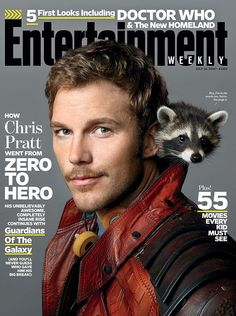 Chris Pratt gives us a hot smirk on the cover of Entertainment Weekly's latest issue! NEWS: Chris Pratt is Fit and Fine on Men's Fitness! The actor stars as Peter Quill in the up… Chris Pratt, Peter Quill, Zoe Saldana, Star Lord, Vin Diesel, Entertainment Weekly, Bradley Cooper, Guardians Of The Galaxy, Zero The Hero