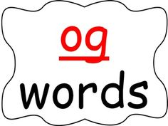 Students practice reading words in the -og word family as you go through the power point presentation. This is a great activity for introducing a new word family or for rhyming.  Be the first to know about my sales, freebies and new products:  • Look for the green star next to my store logo and click it to become a follower.