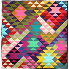 Modern Prism Quilt by Tara  Faughnan / 60x63
