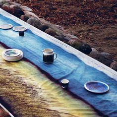 Marimekko Kuuskajaskari Long Multicolor Tablecloth - New Arrivals