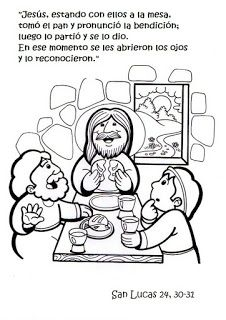 SGBlogosfera. Amigos de Jesús: Semana Santa. This is really cute, kids coloring page for Maundy Thursday?