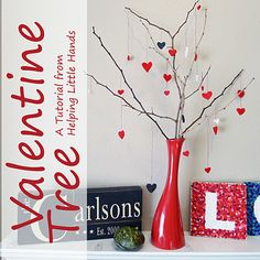 twig tree--- I think we can make a vase out of something around here....We do this every year