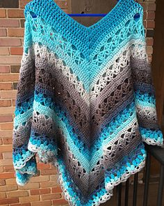Lunar Crossings Poncho pattern by Kim Guzman