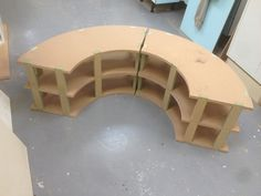 Curved benches in progress