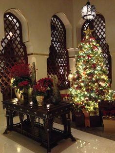 Arabic Christmas decoration. Dubai, UAE