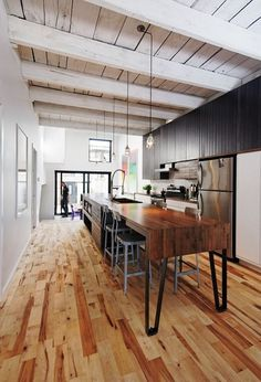 Beautiful rustic industrial kitchen