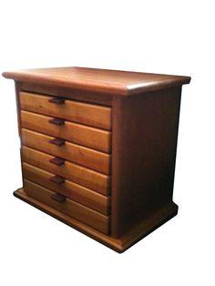 Cherry and Sapwood 6 Drawer Jewelry Box by BlueSkiesHomestead, $170.00