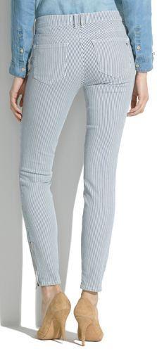 Skinny skinny zip jeans in indigo railroad