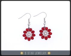Radiant Star  Baha'i 9 Star Crystal Earrings  9 by 9StarJewelry #bahai #bahaijewelry #9starjewelry