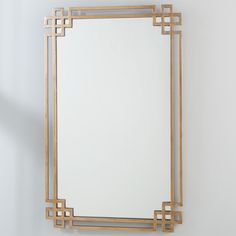 Golden Ornate Metal Mirror
