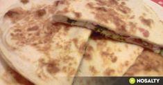 Sonkás-sajtos quesadilla Gonoszka konyhájából recept képpel. Hozzávalók és az elkészítés részletes leírása. A sonkás-sajtos quesadilla gonoszka konyhájából elkészítési ideje: 25 perc Quesadilla, Mozzarella, Sandwiches, Mexican, Bread, Snacks, Breakfast, Ethnic Recipes, Fast Foods
