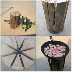 Instructions how to make barbecue wood