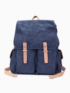 Backpack With Twin Buckle Strap