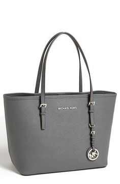 MICHAEL Michael Kors 'Jet Set - Small' Travel Tote available at #Nordstrom Dark Slate