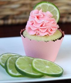 Strawberry Lime Cupcakes