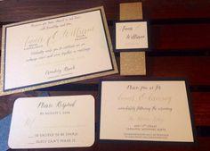 SAMPLE Glitter and Metallic Wedding by InvitationsbyErin on Etsy
