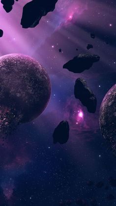 Space Phone Wallpaper, Outer Space Wallpaper, Planets Wallpaper, Purple Wallpaper, Aesthetic Iphone Wallpaper, Cool Wallpaper, Aesthetic Wallpapers, Trendy Wallpaper, Space And Astronomy