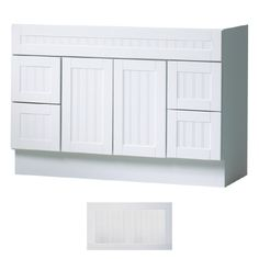 """Shop Insignia 48"""" Satin White Providence Transitional Bath Vanity at Lowes.com"""
