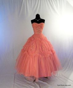 1950s prom dresses | Tulle Confection Cupcake 1950s Prom Dress Blush Pink Shelf Bust Petal ...