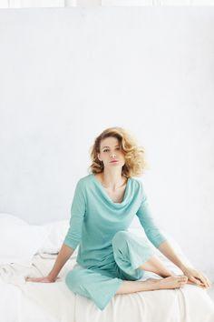 Eileen Fisher Draped Neckline Pajamas
