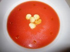 Sopa fría de tomate y apio