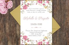Convite de casamento Garden roses