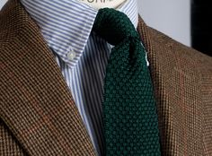 tweed, stripes, and knit.