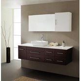 "Found it at AllModern - Ultra Modern Series 59"" Single Bathroom Vanity Set with Mirror"